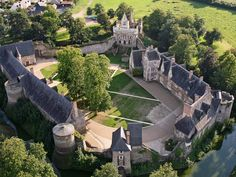 """château du Plessis-Macé. Pays de la Loire - Have to put this on my """"For the Home"""" board :)"""