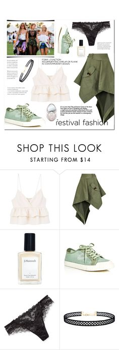 """festival#*Coachella"" by bluealmonds-dk ❤ liked on Polyvore featuring MANGO, Monse, J. Hannah, Tretorn, Lise Charmel, LULUS, Too Faced Cosmetics, coachella and festivalfashion"