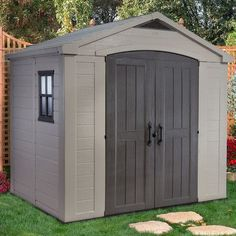 Keter Factor 8 Ft. W x 6 Ft. D Resin Storage Shed
