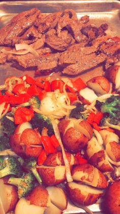Easy, healthy, one pan meal - steak & vegetables!