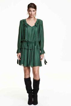 FOR THE SALES Vestido de chiffon: h&M