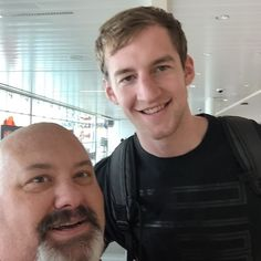 Love meeting people when I travel.  Got to meet Cody Zeller today at Indy airport on his way back to Charlotte from a weekend with his former teammates. #IUBBALL