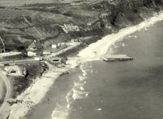 Arial view of WN72 and WN73, Omaha Beach, 1950.