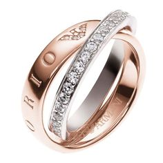 88c0b5815e447 Emporio Armani Sterling Silver   Rose Gold Tone Ring P - Product number  3165205