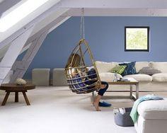 peinture salon bleu avec canapé couleur beige