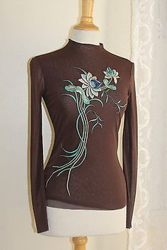 Vivienne-Tam-Asian-Floral-Art-to-Wear-Embroidered-Mesh-Knit-Top-0-XS-S