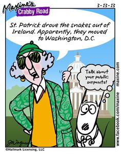 where Ireland's snakes went | Maxine comic for 2013-03-13