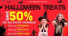 ♀Halloween Treats♀ ▬ Enjoy 50% Discount on All Paper Standards.