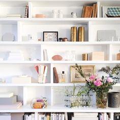 A white bookcase