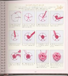 Chinese Embroidery Motifs Meaning Embroidery Stitches Tutorial, Hand Embroidery Stitches, Silk Ribbon Embroidery, Embroidery Art, Embroidery Patterns, Ribbon Crafts, Flower Crafts, Chinese Embroidery, Sewing Techniques