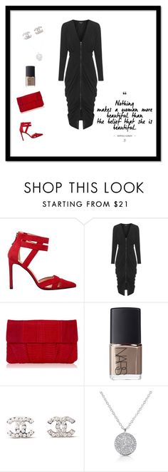 """""""Dress up with a pop of colour"""" by pinkfalmingo on Polyvore featuring Inge Christopher, NARS Cosmetics and Chanel"""