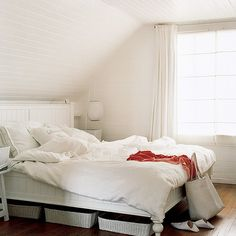 How about limiting your bedroom palette to just white Melanie Acevedo by dominomag