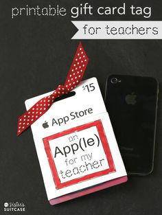 An (App)le for my teacher!!! Great back to school present for teachers!!!
