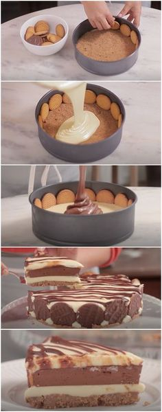 If you like fruity desserts, you'll love this easy cheesecake made with dozens of fresh strawberries. Sweet Recipes, Cake Recipes, Dessert Recipes, How Sweet Eats, Love Food, Cupcake Cakes, Sweet Treats, Food And Drink, Cooking Recipes