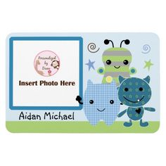 Personalized Peek a Boo Monsters Photo Magnet