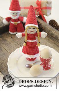 """Navidad DROPS: Santas DROPS en ganchillo, en """"Cotton Viscose"""". ~ DROPS Design"""