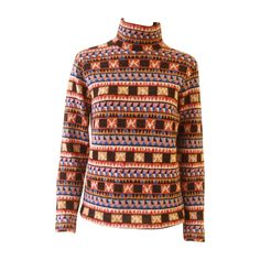 Important Bill Gibb Kaffe Fassett Sweater Byzantine Collection Fall 1976 | From a collection of rare vintage sweaters at https://www.1stdibs.com/fashion/clothing/sweaters/