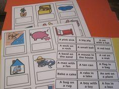 Teacher Made Rhyming Picture & Word Cards Speech Therapy Language Arts PECS K + #Teachermade