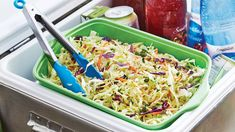For your next bbq backyard party or summer picnic, whip up our Coleslaw with Mustard Vinaigrette. This tangy, sweet, almost pickled oil and vinegar based coleslaw uses celery seed as a spice for the coleslaw.