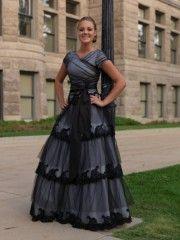 Beautifully modest prom dress.