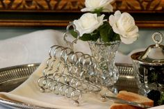 Antique Victorian English Silver Plate Toast Rack by PearlsParlor