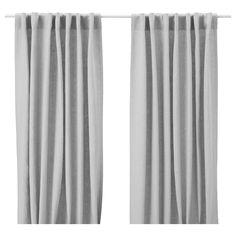 Want these curtains for my bedroom. I love a light gray/silver color theme for a bedroom - it produces a soothing, sophisticated, sexy vibe. AINA Curtains, 1 pair - gray - IKEA $49.99