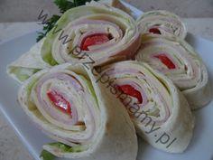 Roladki z tortilli Fresh Rolls, Icing, Ethnic Recipes, Desserts, Food, Tailgate Desserts, Deserts, Essen, Postres