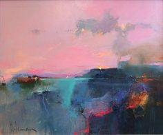 "redlipstickresurrected: "" Peter Wileman (British, b. 1946, Middlesex, UK) - Across Whitesand Bay, 2014 Paintings: Oil on Canvas """