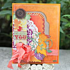Rhonda Van Ginkel for Bo Bunny using the Autumn Song collection to make Thanksgiving Cards; Oct 2013