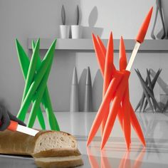 This knife set looks as though it may suddenly spring to life and try to sneak off the counter and out of the kitchen. 39 Futuristic Kitchen Products You Had No Idea You Needed