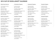 2013 cup of excellence calendar