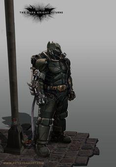 Batman Power Suit Concept by Peter Yong