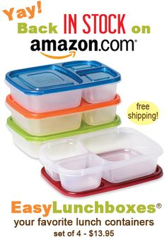 EasyLunchboxes are back in stock on Amazon!