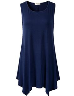 tops and tees Lanmo Women Plus Size Solid Basic Flowy Tank Tops Summer Sleeveless Tunic * Read review @ http://www.amazon.com/gp/product/B01HXLJN3I/?tag=eveningdressesoutlet-20&plm=250716001801