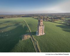 Aerial view of Horton Tower (folly) North Dorset. Unusual Buildings, Red Bricks, Sandy Beaches, Aerial View, My Images, 18th Century, Tower, Earth, History