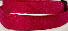 Hot Pink Swirl Dog Collar by HalasPaws on Etsy