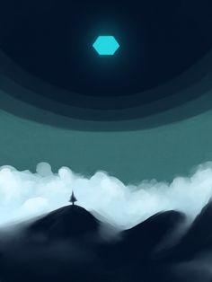 Turquoise Hexagon By Klaufir