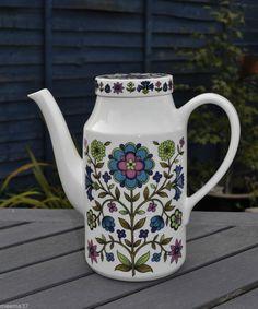 Vintage 60s 70s Retro Midwinter Jessie  Tait Country Garden Coffee Pot