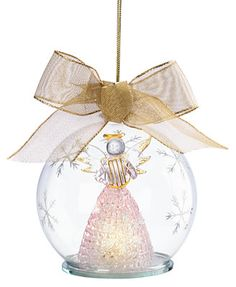 Lenox Exclusive Light Up Angel Wonder Ball Ornament