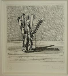 Wayne Thiebaud Glassed Candy etching