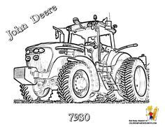 John Deere #Tractor Coloring Page of 7930 Farm Tractor.  You Can Print Out and Color This #JohnDeere Picture... http://www.yescoloring.com/images/17_tractor_deere_7930_coloringkidsboys.gif