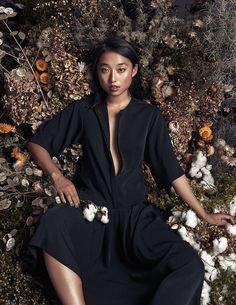 Margaret Zhang Wears Summer Black for Elle.com