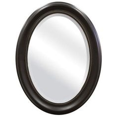 Round Oval Bathroom Wall Mirror with Beveled Edge & Bronze Frame- Free Shipping