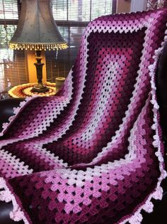 Window Crochet Afghan Stained Glass - The Free Pattern