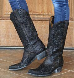Rivertrail Mercantile - Old Gringo Swarovski Eagle Boots Black, $1,470.00 (http://www.rivertrailmercantile.com/old-gringo-swarovski-eagle-boots-black/)