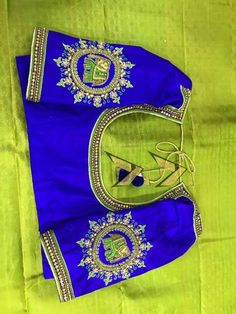 Maggam ddes Wedding Saree Blouse Designs, New Blouse Designs, Stylish Blouse Design, Silk Saree Blouse Designs, Kurta Designs, Maggam Work Designs, Designer Blouse Patterns, Embroidery Works, Elephant Design