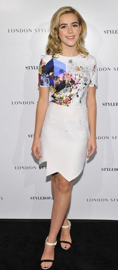 Kiernan Shipka in Preen attends the London Style Suites Cocktail Party. #bestdressed