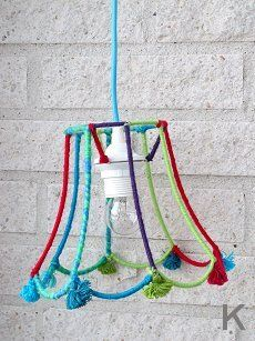 Recycled old lampshade.