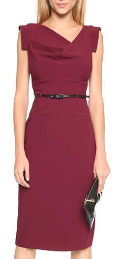 pretty cranberry jackie o dress