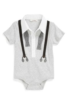 Miniclasix Vest & Tie Bodysuit (Baby Boys)
